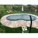 Telo (su misura) Copertura invernale per piscina modello Oasi.